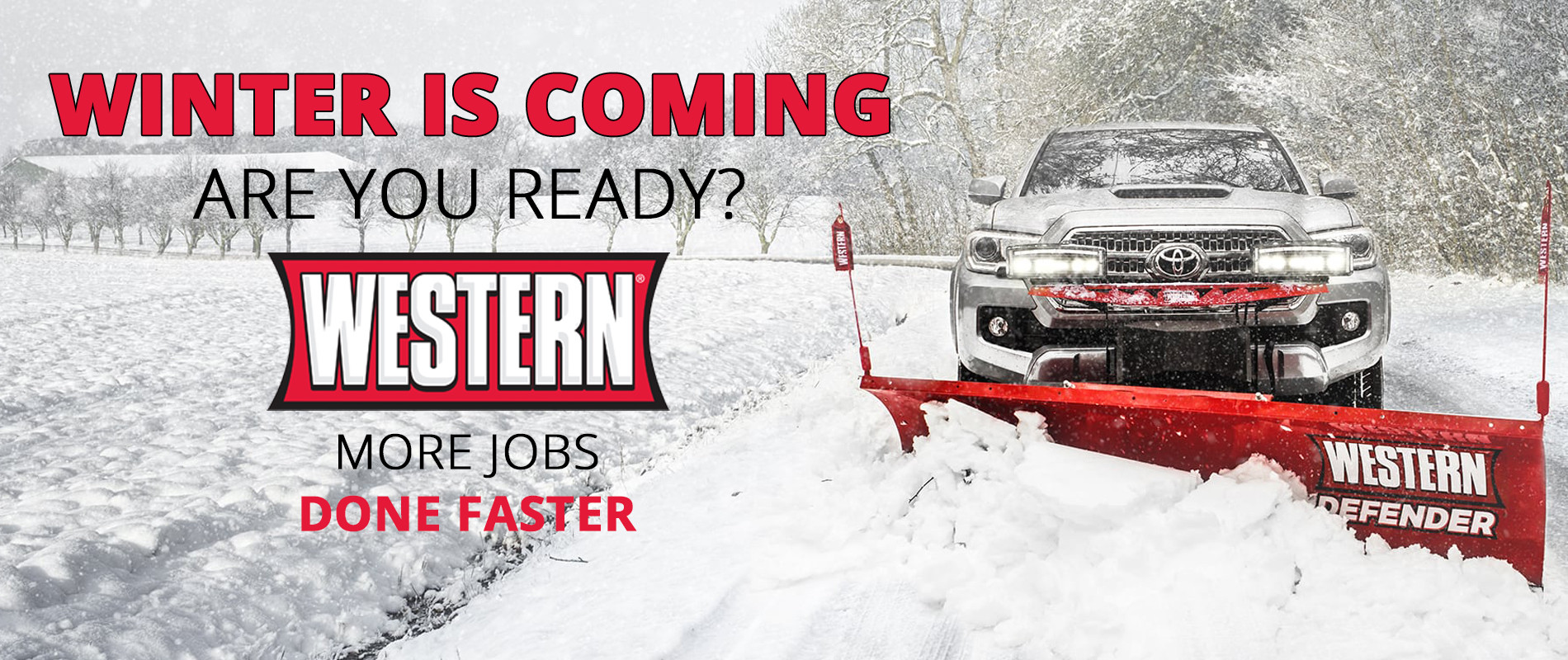 Western Snowplows Home Page Banner